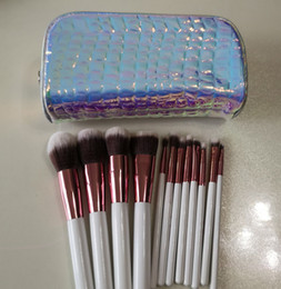 piece cosmetic bag set Australia - CRYSTAL QUARTZ 12 PIECE BRUSH SET WITH COSMETIC CASE TRAVEL BAG MAKEUP BRUSH KITS TOOLS