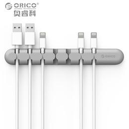 Опт ORICO кабель управления наушники кабель организатор хранения провода кремния зарядное устройство кабель держатель клипы для MP3 ,MP4 ,мышь,наушники