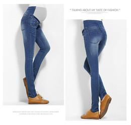 fc2638406 Pantalones de mujer embarazada Pantalones vaqueros de algodón elástico  Pantalón de mezclilla pantalones de maternidad Pantalones