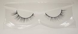 hand pack NZ - 3D Mink False Eyelashes 100% Mink Fur Long Thick Hand-made Reusable Eyelashes Natural 1 Pair Pack MTL055