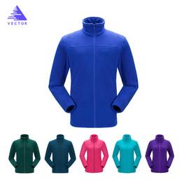 Full Zip Jacket Polyester Australia - VECTOR Fleece Jacket Women Camping Hiking Jackets Full-Zip Men`s Outdoor Jacket Coat Couples Soft Fleece Jackets 6 Colors