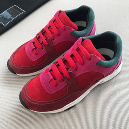 Discount designer shoes brand names - Name Brand Casual Shoe Women New Designer Low Cut Suede Trainer Walking Jogging Shoes Sneaker On Sale wl18010706