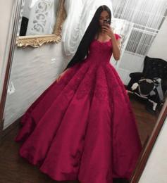 Discount portrait neckline - Luxurious Ball Gown Quinceanera Dresses 2018 Square Neckline Appliques Sweet 15 Pageant Party Junior Prom Evening Gowns