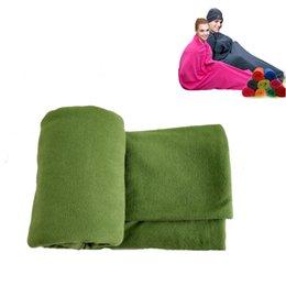 Ультра-легкий 2 толщина флис спальный мешок для портативный открытый отдых путешествия теплый спальный мешок лайнера