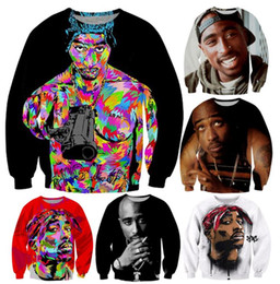 $enCountryForm.capitalKeyWord Canada - Harajuku Style Men Women's Pullover Hoodie 3D printed Painting Tupac Sweatshirt Long Sleeve Casual Sweat Shirt plus Size Free Shipping