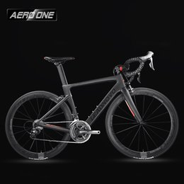 bike complete UK - wholesale Complete Full Carbon Fiber Road Bike Racing Cycling,T800 Carbono Fibre Frameset,Black-Red Color,3D three-dimensional