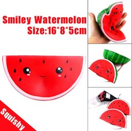 Wholesale 10pcs Squishy slow rebound cartoon watermelon pu simulation fruit food model soft pinch venting props