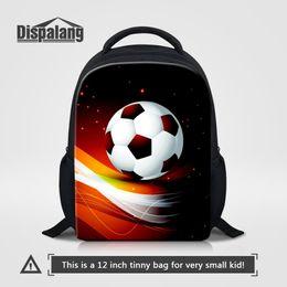 9b10ec539052 Child Cool Backpack NZ - Boys Cool Backpack To School Custom Footballs  Schoolbag For Kindergarten Children