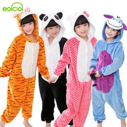 8299d5ace5cb Panda Onesie NZ - Baby Boys Girls Pajamas Autumn Winter Children Flannel  Warm animal penguin Stitch