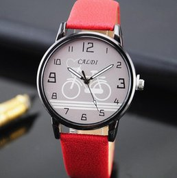 Discount bike chronograph Bicycle watches Fashion Ladies Watches Leather Female Quartz Watch Cute Student bike Pattern Casual Strap Watch