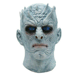 White Scary Halloween Costumes Canada - Halloween Costumes Game of Thrones Night's King White Walker Men's Full Head Mask Cosplay Halloween outfit