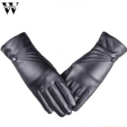 touch screen wrist Australia - 2017 Fashion New Winter Women's Gloves Luxurious Leather Winter Super Warm Gloves Cashmere With Touch Screen Function sept13 m30 S1025
