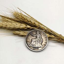 $enCountryForm.capitalKeyWord Canada - free shipping wholesale CC Morgan1879 coins plated-silver Coin manufacturing old silver coin 5pcs lot copy coin