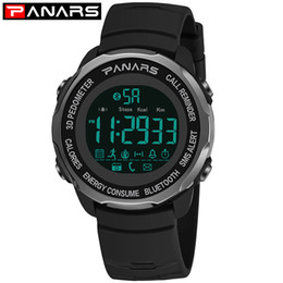 Discount bluetooth wrist alarm - PANARS Bluetooth Smart Sport Waterproof Watch For Men 3D Pedometer Wrist Watch Mens Diving Water Resistant Watches Alarm