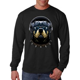 46dd21ad Puppy Sunglasses UK - Rottweiler Cool Character Puppy Dog Headphones  Sunglasses Long Sleeve T-Shirt