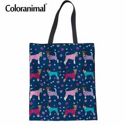 $enCountryForm.capitalKeyWord Australia - Coloranimal Top-handle Bag Women Large Shopper Shoulder Bag 3D Cute Animal Fox Terrier Dog Print Cloth Handbag Canvas Tote Bags