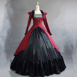 Southern Belle Dress Xl NZ - 3 Colors Victorian historical Party Princess Dress Renaissance Long Sleeve Southern Belle Masquerade Ball Gowns For Women 2018