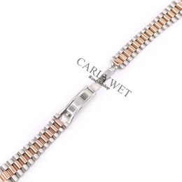 $enCountryForm.capitalKeyWord UK - 20mm Silver Middle Gold Solid Curved End Screw Links Stainless Steel Replacement Wrist Watch Band Bracelet Strap For President