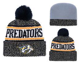 88da8fb24f7 Predator hunting online shopping - New Beanies Predators Hockey Hot Knit  Beanie Pom Pom Knit Hats