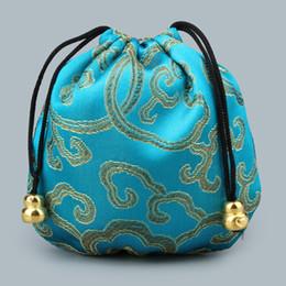 $enCountryForm.capitalKeyWord UK - Mini Party Reusable Handmade Fabric Storage Bag Satin Drawstring Chinese Silk Brocade Pouches bag Damask Jewelry Gift Bags