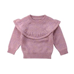 ba87fb7287e6 Fashion Infant Kids Baby Girl Knitted Lace Sweater Cardigan Coat Long  Sleeve Top Outwear