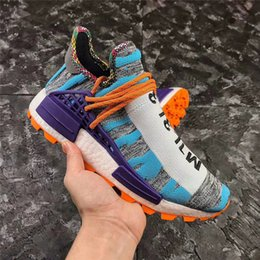 huge discount 8eca5 5535f 2018 NMD HUMAN RACE TRAIL SOLAR PACK Running Shoes Men Hi-Res Aqua Core  Black Authentic Quality Sneakers Sports With Original Box BB9528