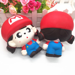 Toy boy movie online shopping - Boy Girl Super Mario Squishy Jumbo Fun Toy Kid Adult Gift Cream Scented Slow Rising Squishies Depression Christmas Toy AAA1439