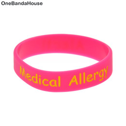medical alert wristbands Canada - 100PCS Lot Alert! Medical Allergy Silicone Wristband For Children Safety By Wear This Bracelet As A Reminder in Daily Life