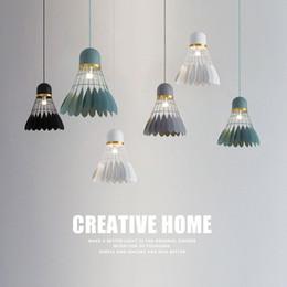$enCountryForm.capitalKeyWord NZ - Modern Badminton Pendant Light Art Hanglamp LED Pendant Lamp Light Fixtures For Kitchen luminaria Indoor Lighting Light