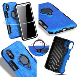 Silicone Phone Holder For Car Canada - Luxury Ring Car Holder Hard Plastic+Soft TPU Case For Iphone X 8 7 Plus 6 6S Plus Magnetic Metal Ring Bracket Phone Silicone Gel Skin Cover