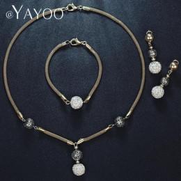 $enCountryForm.capitalKeyWord Australia - Jewelry Sets Shamballa African Beads Jewelry Set Nigerian Wedding Jewelry Sets For Women Gold Color Jewelery Costume