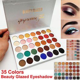 beauties factory palette UK - Factory Direct Beauty Glazed Eyeshadow Palette 35 Colors Eye shadow shimmer matte makeup eyeshadow palette Brand Cosmetics DHL free shipping