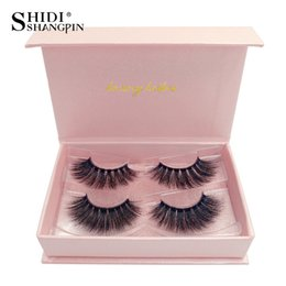Top False Eyelashes Australia - Top Quality Mink Hair False Eyelashes SHIDISHANGPIN 3D Mink Eyelashes Natural&Thick&Long&Soft&Curly 3d mink eye lashes Free Shipping