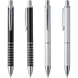 Logo Promotional Gift Australia - Lot 400pcs Aluminium ball pen,customized promotional logo print gift ,smooth refill silver or black ballpoint writing instrument