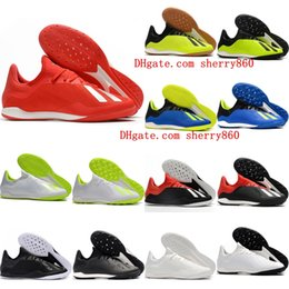 Cheap Shoes Boots NZ - 2018 hot mens indoor soccer shoes X Tango 18.3 IC IN TF chaussures de football boots x 18 soccer cleats size 39-46 high quality cheap