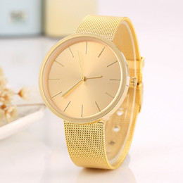 Simple Gadgets NZ - Fashion Stainless Steel Mesh Band Couple WristWatch Lover's Simple Casual Watch Gadget Men Unisex Wrist Watch Couple Clock