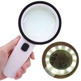 China 30X High Power Handheld Strong Magnifying Glass Best Jumbo Size Illuminated Magnifier for Reading, Inspection,Exploring cheap reading glasses powers suppliers