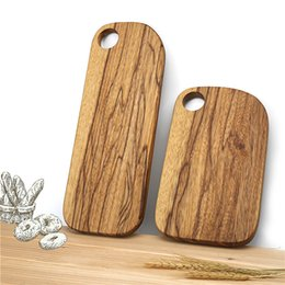 China Zebra Wood Chopping Blocks Kitchen Wood Food Plate Wooden Pizza Sushi Bread Whole Wood Tray Cutting Board No Paint suppliers