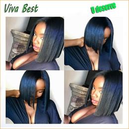 $enCountryForm.capitalKeyWord NZ - Human Hair short cute bob yaki Full Lace Wigs Brazilian Human bob lace Front Glueless Wig for women Free shipping and many colors in Stock