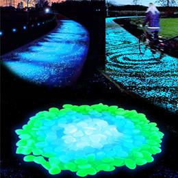 Pietra luminosa di ghiaia leggera di simulazione della pietra di incandescenza per le decorazioni domestiche del corridoio del giardino del vaso da fiori della decorazione del carro armato di pesci domestico
