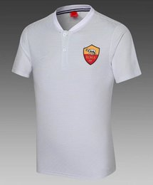 China A2017 2018Football Club POLO shirt TOTTI soccer jersey 17 18 DZEKO DE ROSSI ROMAS EL SHAARAWY Football Polos Short Sleeve adult Sport Traini cheap sport polo shirt short suppliers