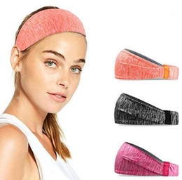 wholesale basketballs Canada - High Elastic Double-sided wear Sport Headband Wide Warp Hair Band Yoga Running Stretch Bands Men Women Basketball Tennis Sweatband 13 colors