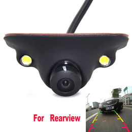ccd hd backup camera Australia - Mini CCD HD Night Vision 360 Degree Car Rear View Camera Front Camera Front View Side Reversing Backup Camera 2 LED