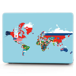 Macbook Retina 13 Inches Australia - Map-3 Oil painting Case for Apple Macbook Air 11 13 Pro Retina 12 13 15 inch Touch Bar 13 15 Laptop Cover Shell