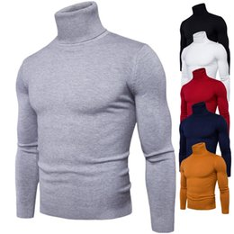 New Casual Turtleneck Sweater Men Pullovers Autumn Solid Slim Knitwear Full Sleeve Coat 2018 Cashmere Jumpers Pull Homme Winter
