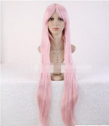 luka megurine cosplay Canada - Free shipping++++Long Straight Miku Megurine Luka Anime Hair Cosplay Full Pink Fashion COS Wig
