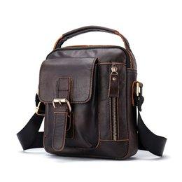 $enCountryForm.capitalKeyWord Canada - 2018 Men's Shoulder Bag Genuine Leather Messenger Bag Vintage Men's Hand Bags Leather Flap Man Handle-top Crossbody Bags For Men
