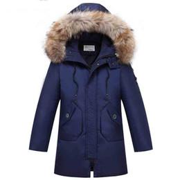 $enCountryForm.capitalKeyWord UK - Winter Coat Big Boys Down Jackets -30 Degrees Long overcoat Teenage Boy clothes parka real Fur Collar Age 8 10 12 14 15