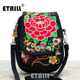 boho bags wholesale Canada - Hmong Ethnic Boho Hobo Embroidery Shoppers Bag Women's Shoulder Brand Messenger Bags Logo Indian Thailand Embroidered Handbag