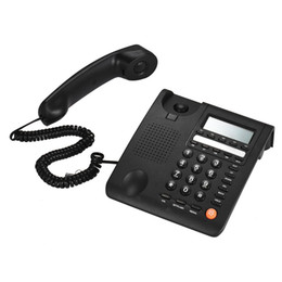 Call Center phones online shopping - Desktop Corded Telephone Fixed Phone LCD Display for House Home Call Center Office Company Hotel Cable De Telefono for Home Office